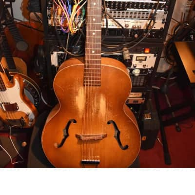 Harmony H1407 F-hole Patrician 1958 arch top acoustic guitar for sale