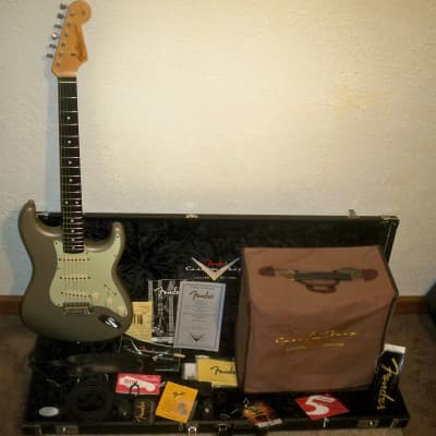 06  Namm Show Custom Shop Limited Edition Fender Stratocaster 1959 Reissue Relic Matching Fender Pro for sale
