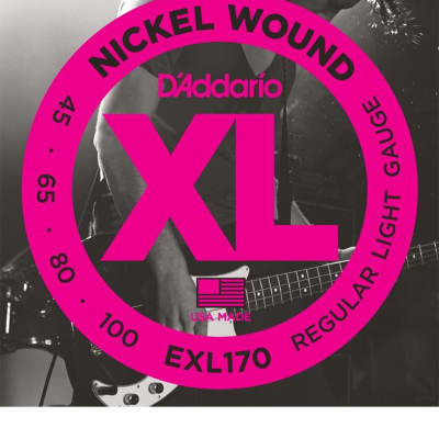 D'Addario EXL170 Regular Light Nickel Wound Long Scale Bass Strings - .045-.100