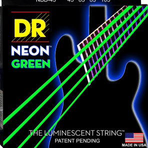 DR Neon Phosphorescent Green HiDef Medium Bass SuperStrings