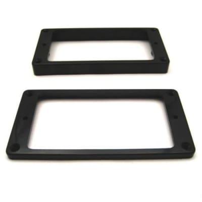 Humbucker Ring Set-Tapered w/ Flat Bottoms-Black