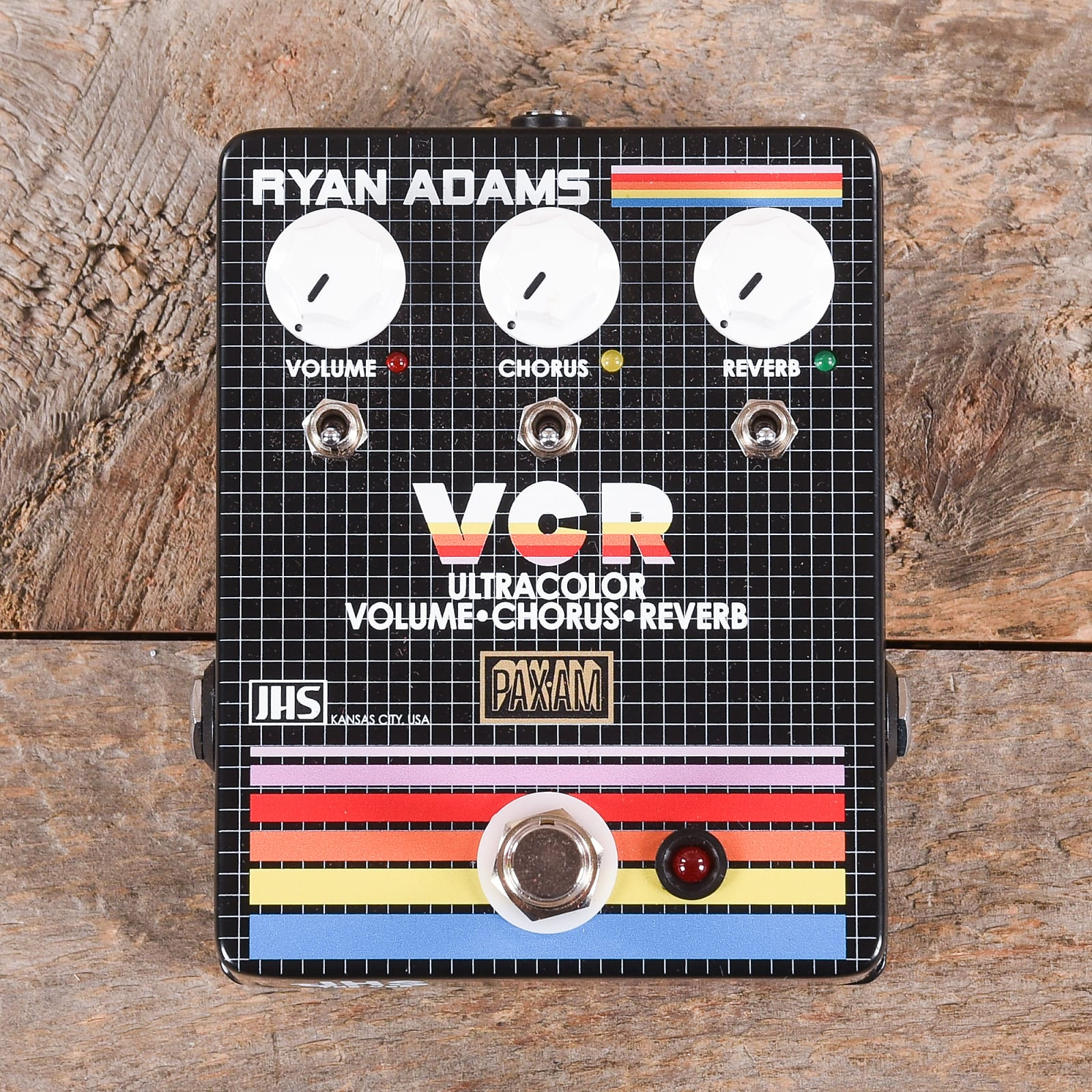 JHS VCR Volume Chorus Reverb Ryan Adams Signature Pedal USED