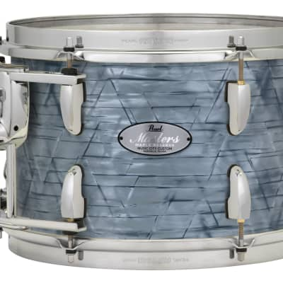 """Pearl Music City Custom Masters Maple Reserve 24""""x14"""" Bass Drum MRV2414BX - Molten Silver Pearl"""