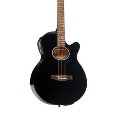 Monterey MEA-115 Slimline Electric Acoustic Guitar - Black for sale