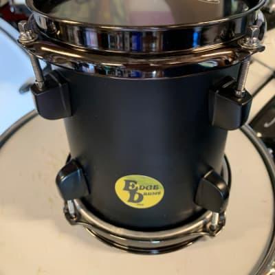 "Evans Edge Drums 6"" Sonic Tom x 7"" Deep 2020 Black on Black"