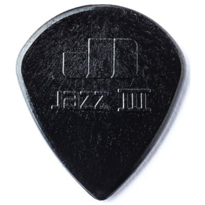 Dunlop Jazz III Black Stiffo Pick (6-Pack)