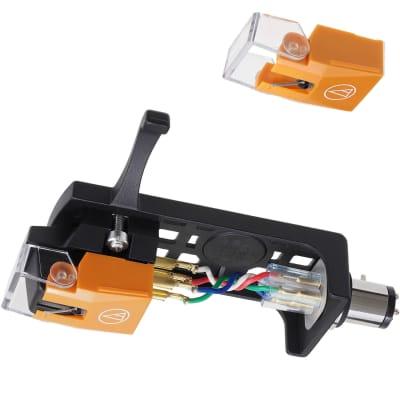 Audio-Technica VVM530EN/H Headshell & Cartridge w/VM530EN & AT-HS10BK & VMN30EN Replacement  Stylus