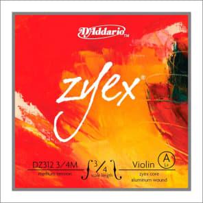D'Addario DZ312 3/4M Zyex Violin Single A String - 3/4 Scale, Medium Tension