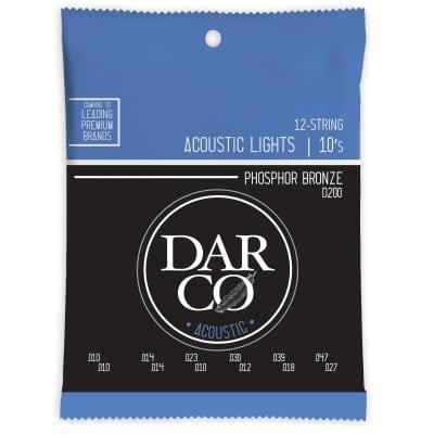 Martin D200 Darco Phosphor Bronze 12-String Acoustic Guitar Strings Light