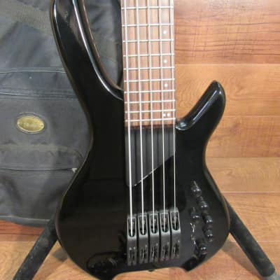 2009 Lightwave Wilcox Hexfex 5 String Bass with 13 Pin MIDI Black for sale