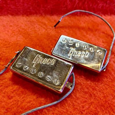 Greco Maxon PAF embossed humbucker pickups 1970's Chrome original vintage Les paul mij japan