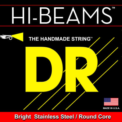 DR Hi-Beams Bright Stainless Steel/Round Core 45-125 Bass Strings MR5-45 45 65 85 105 125