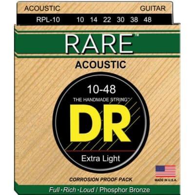 DR Strings Rare RPL-10 10-48 Acoustic Strings