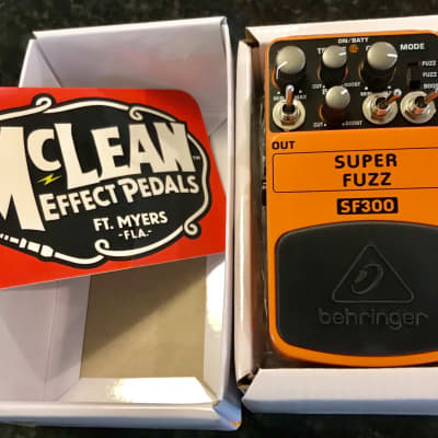 Behringer SF300 Super Fuzz (Modified by McLean Effect Pedals) *PRE-ORDER for sale