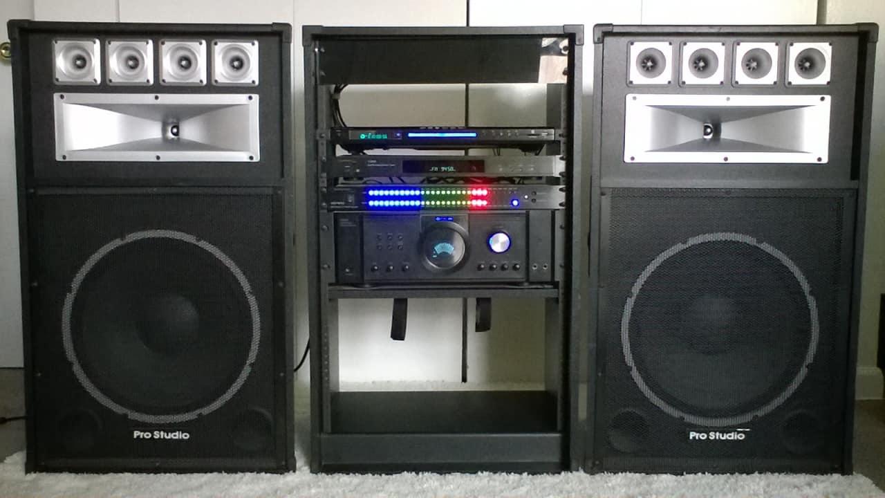 Technical Pro Pro Studio Rack Sound System Home Audio Reverb