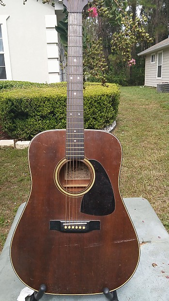 vintage aria lw 15ms 70 80 39 s walnut acoustic guitar reverb. Black Bedroom Furniture Sets. Home Design Ideas