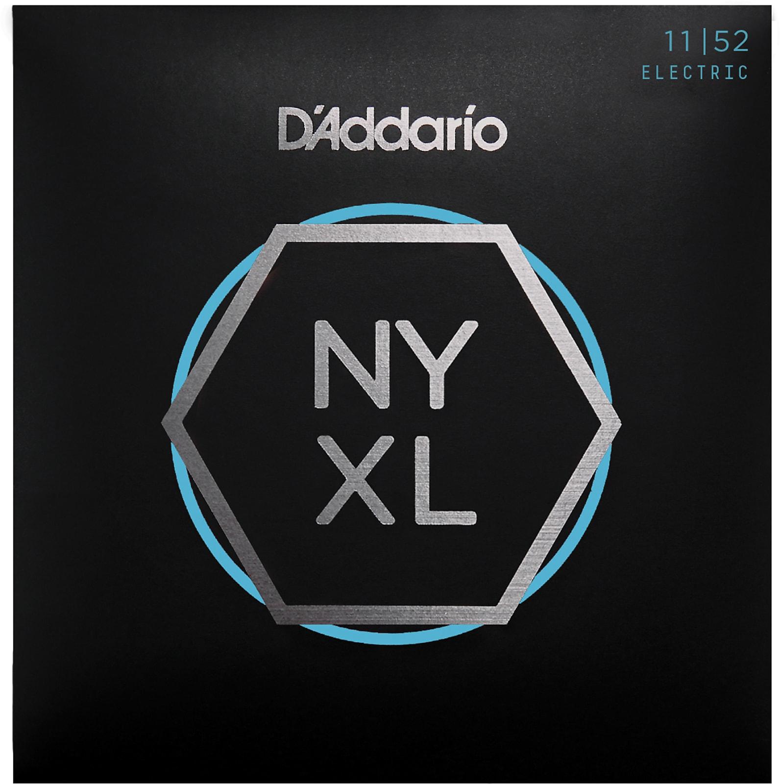 D'Addario NYXL1152 Nickel Wound Electric Guitar Strings, Medium Top / Heavy Bot