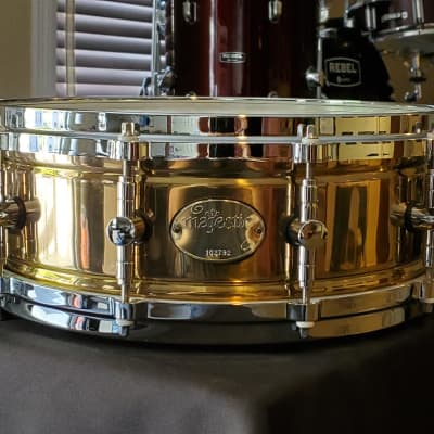 "Majestic Brass Prophonic Snare Drum  14"" X 5"" with Case"
