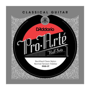D'Addario RNN-3T Pro-Arte Rectified Clear Nylon Classical Guitar Half Set Normal Tension
