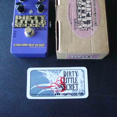 Catalinbread Dirty Little Secret MKII Purple Overdrive effect pedal