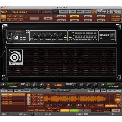 IK Multimedia Ampeg SVX Bass Amplifier and Cabinet Emulation Software (Download)