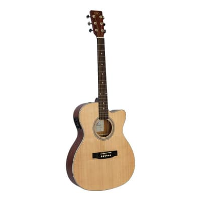 SX electro acoustic guitar small body cutaway for sale