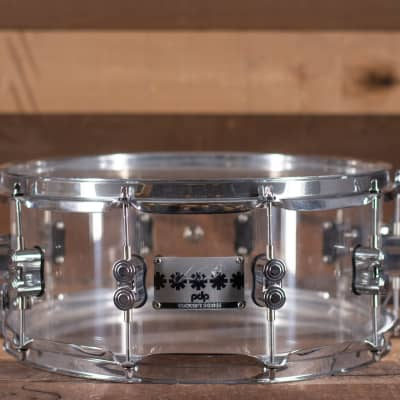 """PDP Chad Smith 14"""" x 6"""" Clear Acrylic Snare Drum"""