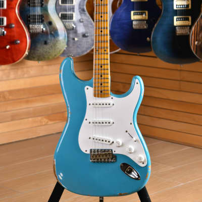 Fender Custom Shop '57 Stratocaster Relic Maple Neck Taos Turquoise for sale
