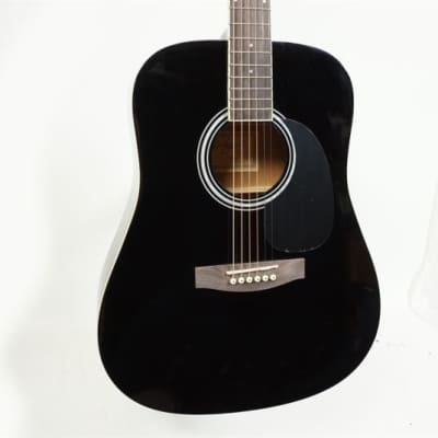 Jay Turser JJ45-BK Dreadnought Mahogany Neck 6-String Acoustic Guitar - Black for sale
