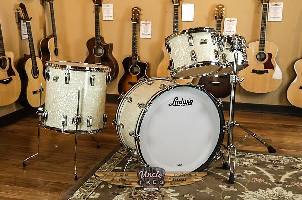ludwig custom maple vintage white marine pearl drum set 12 reverb. Black Bedroom Furniture Sets. Home Design Ideas