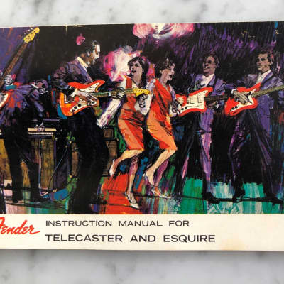 1965-1970 Fender Instruction Manual For Telecaster & Esquire Case Candy Vintage Collector CBS