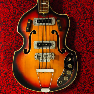 1960s Teisco Del Rey EB-210 Bass Sunburst