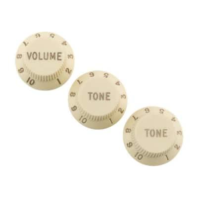 Fender Road Worn Aged Strat Knobs Aged White (3) 0997209000