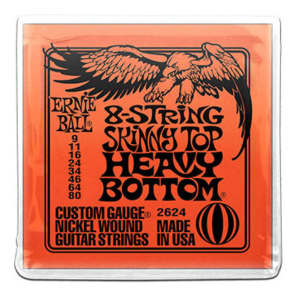 Ernie Ball 2624 8-String Skinny Top Heavy Bottom Strings, .009 - .080