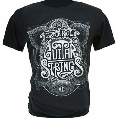 Ernie Ball String King Silver Print T Shirt - X-Large, P04703