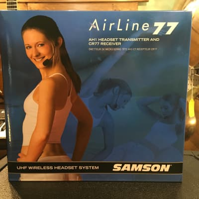 Samson AirLine 77 Wireless System Fitness Headset (AH1-Qe/CR77) - Frequency K1 489.050 MHz