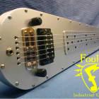 Fouke Industrial Guitars RTRAIL Lap Steel Guitar 2017 Brushed Aluminum image
