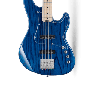 Cort GB74JJ GB Series 4-String, Swamp Ash Body, Maple Neck, Aqua Blue  (B-Stock) for sale