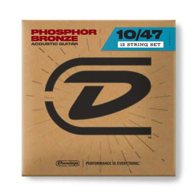 Dunlop DAP1047J Acoustic Phosphor Bronze 12-string Guitar Strings, Light (10-47