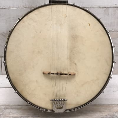Lyon & Healy USA American Conservatory Model 5-String Open Back Banjo Early 1900s w/Chipboard Case for sale