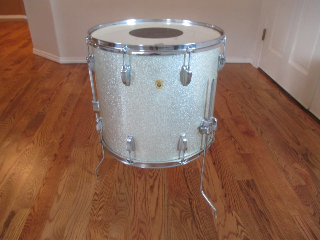 Ludwig vintage super classic 18 x 16 floor tom silver for 18 inch floor tom for sale