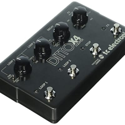 TC Electronic Ditto X4 Looper Pedal With Dual Loop Tracks and Stereo I/O