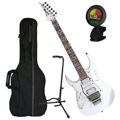 Ibanez JEMJRL Steve Vai Signature JEM Left-Handed Electric Guitar Bundle