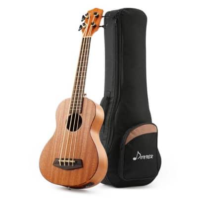 30 Inch Acoustic Electric Bass Ukulele (Mahogany Body) + Gig Bag