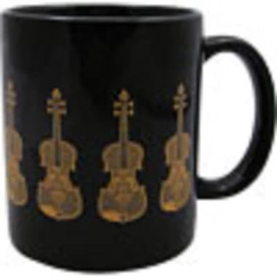 Aim Gifts 1804 Black and Gold Violin Coffee Mug