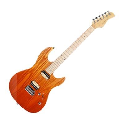 DAME Saint S300 Alder Ash Venner HH Stratocaster Strat Amber Gradation for sale