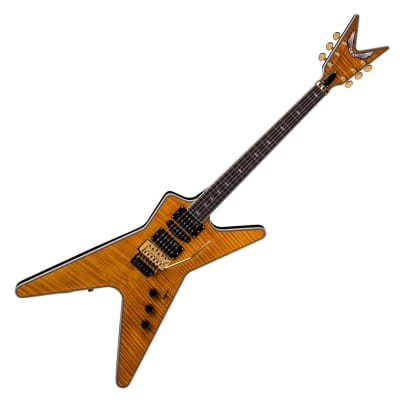 Dean ML Switchblade Flame Maple Trans Amber DMT Ebony 24 Fret Electric Guitar for sale