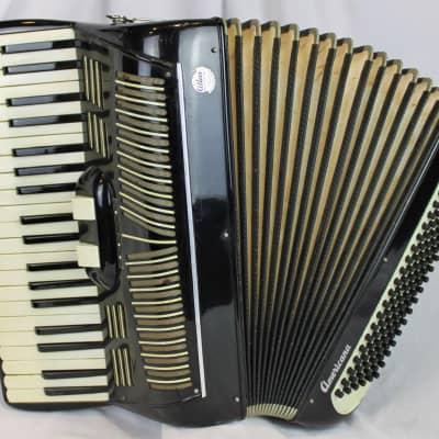 4383 - Black Atlas Americana Piano Accordion LM 41 120 for sale