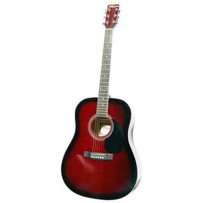 Phoenix 001 guitare acoustique folk lie-de-vin for sale