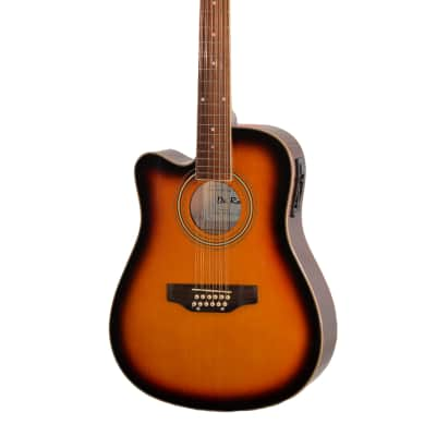 De Rosa GACE41-AW12-TS-LFT Spruce Top Maple Neck 12-String Acoustic Electric Guitar For Left-Handed for sale